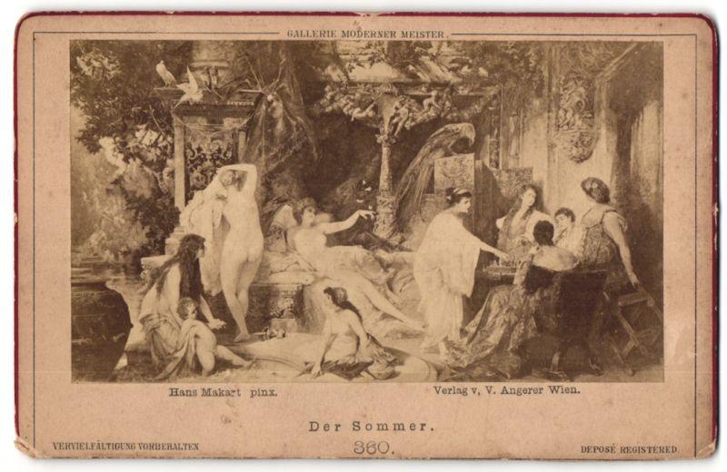 Fotografie Gemälde von Hans Sakart, Der Sommer, Allegorie