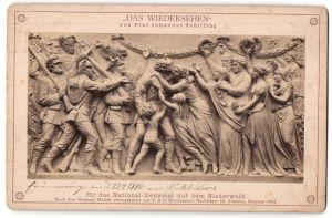 Fotografie R. Tamme, Dresden, Relief von Prof. J. Schilling, Figurengruppe für das Nationaldenkmal auf dem Niederwald