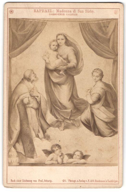 Fotografie F. & O. Brockmann, Berlin, Gemälde von Raphael, Madonna di San Sisto