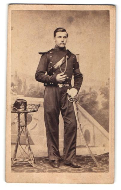 Fotografie Franz Hanfstaengl, München, Portrait Max Erismann in Uniform