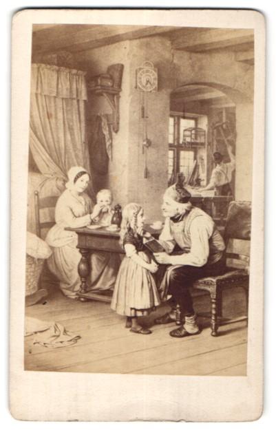 Fotografie Gemälde von unbek. E. Meyerheim, Grossvaters Liebling