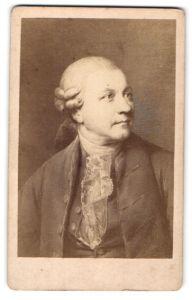 Fotografie Portrait des Dichters Klopstock