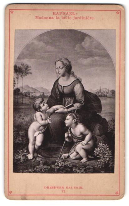 Fotografie Gemälde von Raphael, Madonna la belle jardinière