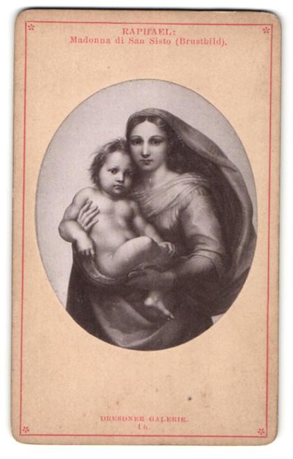 Fotografie Gemälde von Raphael, Madonna di San Sisto