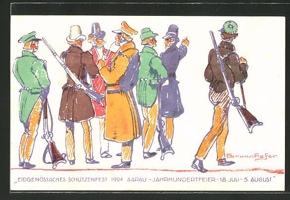 AK Aarau, Eidgenössisches Schützenfest 1924, Jahrhundertfeier, Schützenverein