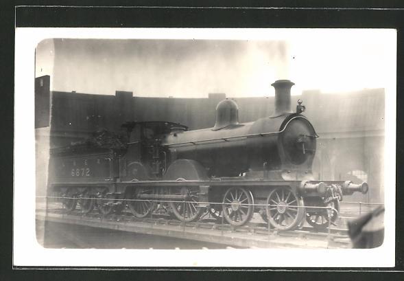 AK Eisenbahn mit Güterwagen