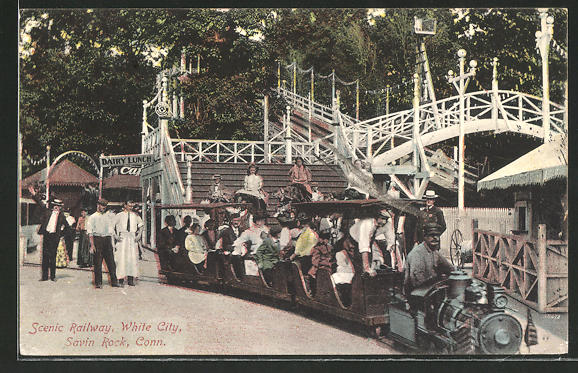 AK Savin Rock, Scenic Railway, White City, Kleinbahn