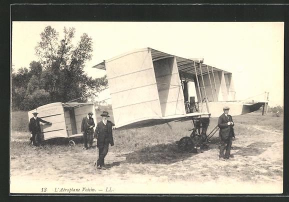 AK L'Aéroplane Voisin, frühes Flugzeug
