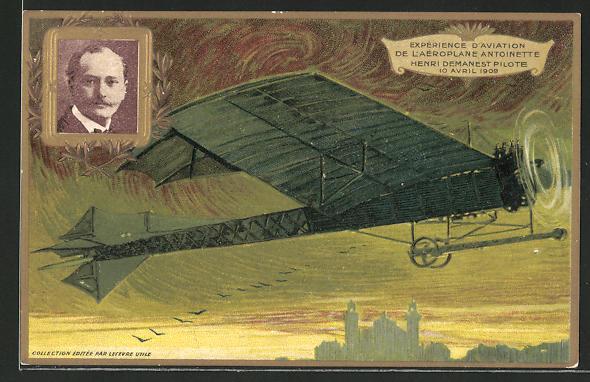 Künstler-AK Flugzeug