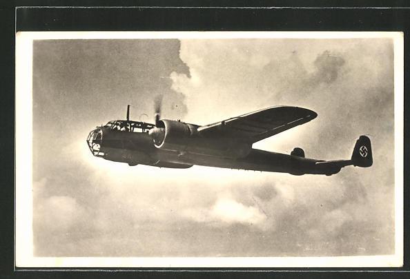 AK Kampfflugzeug Dornier Do 215 im Fluge
