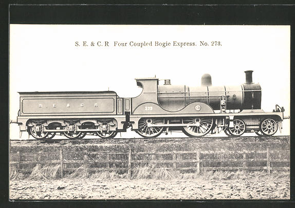 AK S.E. & C.R. Four Coupled Bogie Express No. 273, englische Eisenbahn
