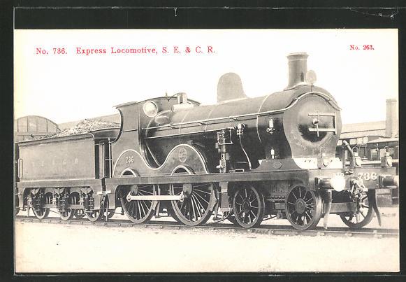 AK Express Locomotive, S.E. & C.R., englische Eisenbahn-Lok