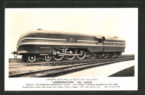 AK Englische Eisenbahn-Lokomotive