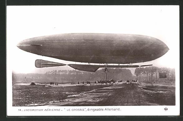 AK Deutscher Zeppelin