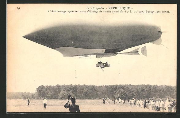 AK Französischer Zeppelin