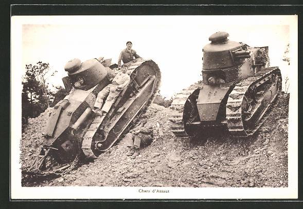 AK Chars d'Assaut, Panzer in schwierigem Gelände