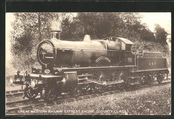 AK Great Western Railway Express Engine, englische Eisenbahn-Lokomotive
