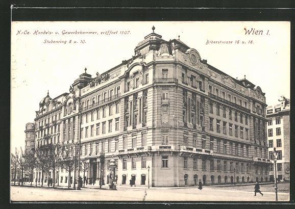 AK Wien, N.-Ö. Handels- und Gewerbekammer, Stubenring 8 und 10, Biberstrasse 16 und 18
