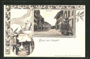 AK Laupen, Bärenplatz und Kirchstrasse