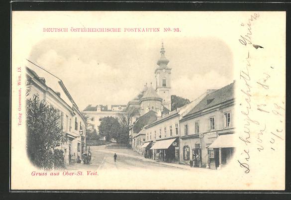 AK Wien-St. Veit, Strassenpartie im Ort