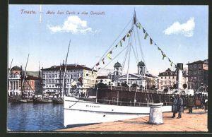 AK Trieste, Molo San Carlo e riva Carciotti