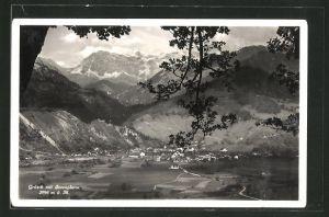AK Grüsch, Panorama mit Scesaplana