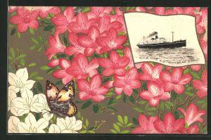 Künstler-AK Japanisches Passagierschiff