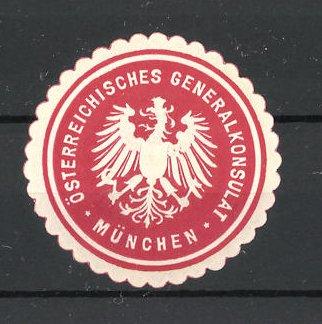 Präge-Reklamemarke München, Österreichisches Generalkonsulat