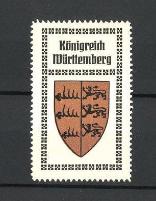 Reklamemarke Wappen Königreich Württemberg