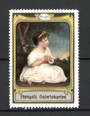 Reklamemarke Stengels Galeriekarten, hübsches Mädchen