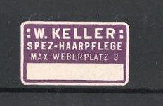 Reklamemarke Spezial-Harpflege W. Keller