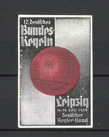 Reklamemarke Leipzig, 17. deutsches Bundeskegeln 1929