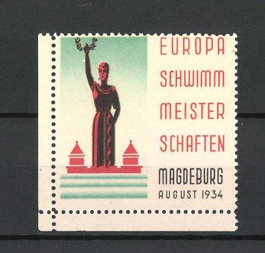Reklamemarke Magdeburg, Europa-Schwimmmeisterschaften 1934