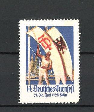 Reklamemarke Köln, 14. Deutsches Turnfest 1928
