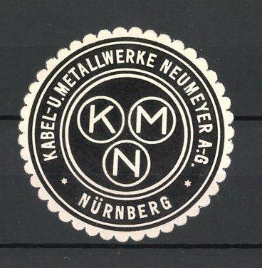 Reklamemarke Nürnberg, Kabel- u. Metallwerke Neumeyer AG