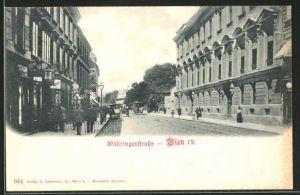 AK Wien, Häuser in der Währingerstrasse