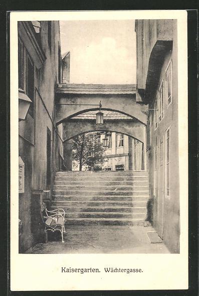 AK Alt-Wien, Kaisergarten, Wächtergasse, Jahrhundertfeier des Wiener Kongresses 1814