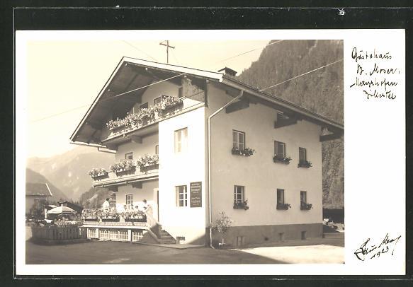 AK Zillertal, Partie am Gasthaus Benedikt Moser 0