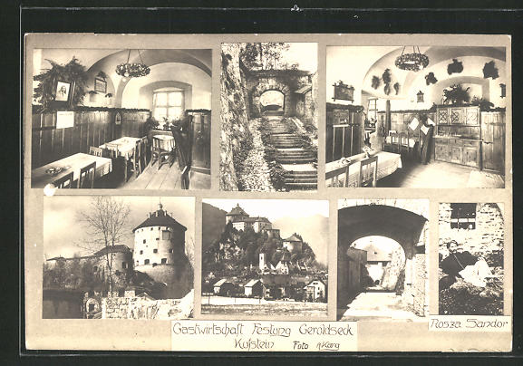 AK Kufstein, Gastwirtschaft Festung Geroldseck, Innenansichten 0