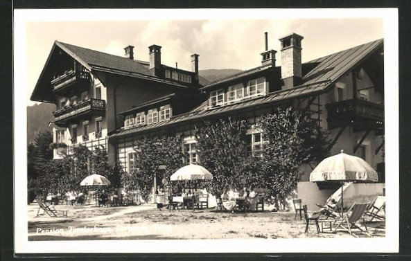 AK Steinach, Partie an der Pension Tirolerhaus 0