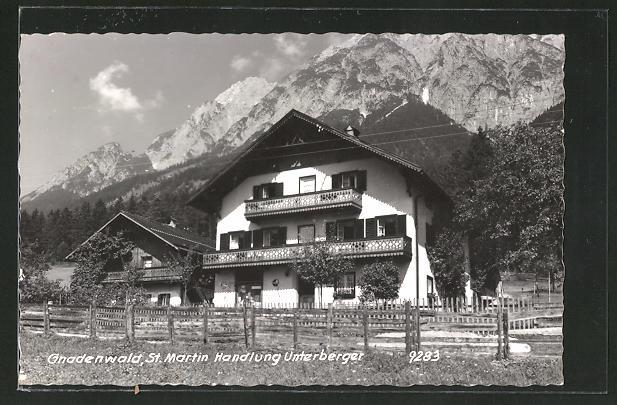 AK Gnadenwald, St. Martin Handlung Unterberger 0