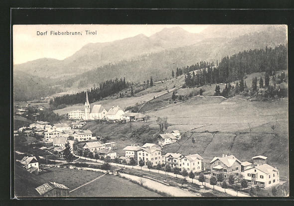 AK Fieberbrunn, Gesamtansicht vom Dorf 0