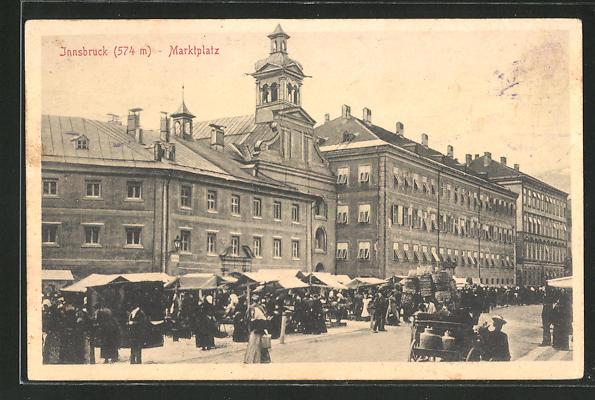 AK Innsbruck, Marktplatz am Markttag 0