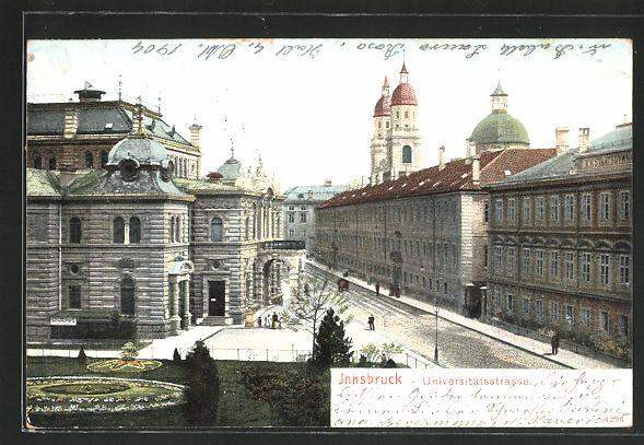 AK Innsbruck, Ansicht aus der Universitätsstrasse 0