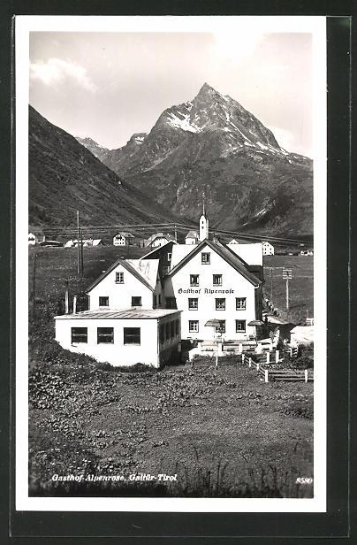 AK Galtür, Gasthaus Alpenrose 0