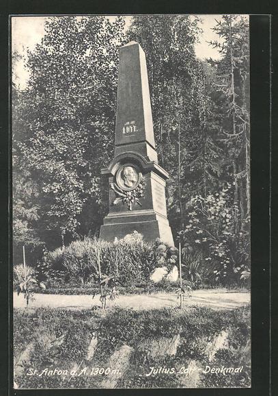 AK St. Anton, Julius Lott-Denkmal 0