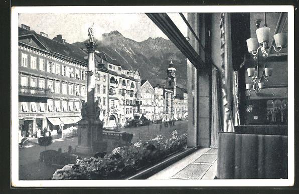 AK Innsbruck, Konditorei-Cafe Schindler & Co, Maria-Theresien-Strasse 29 0