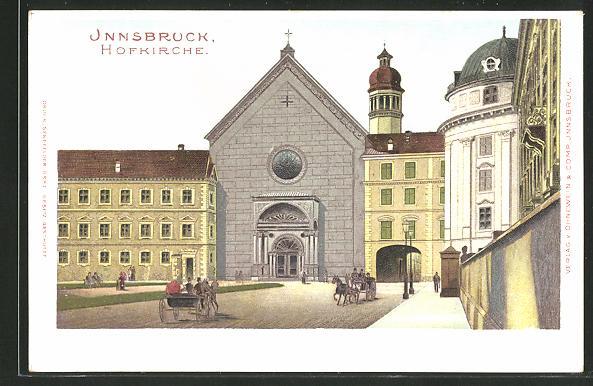AK Innsbruck, Partie an der Hofkirche 0