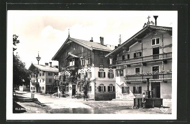 AK Ellmau in Tirol, Strassenpartie im Ort 0
