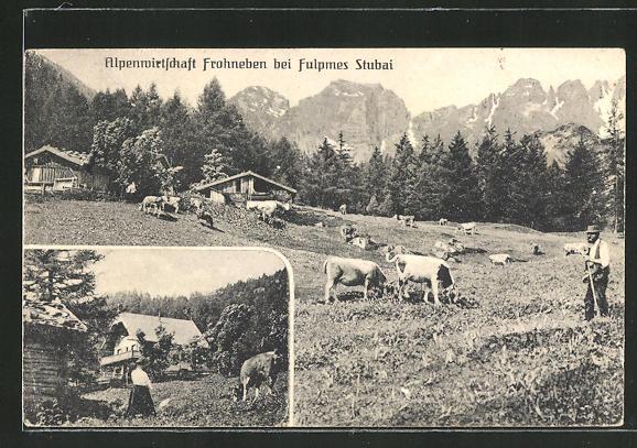 AK Fulpmes, Alpenwirtschaft Frohneben 0